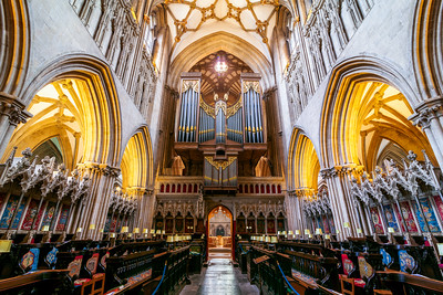 The Organ at Wells Cathedral, Somerset, England