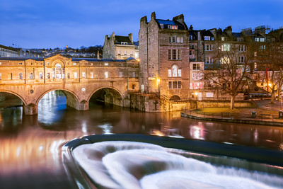 Blue Hour at Pulteney Bridge, Bath, Somerset, England