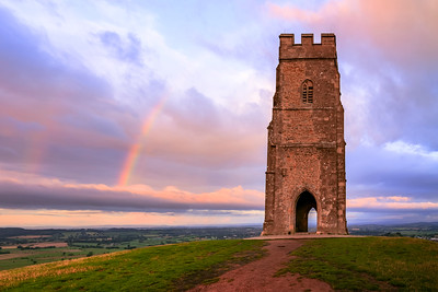 Rainbow, Glanstonbury Tor, Glastonbury, Somerset, England