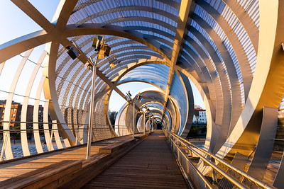 Arganzuela Footbridge, Madrid, Spain