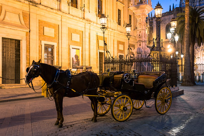Horse and Cart, Seville, Andalucia, Spain