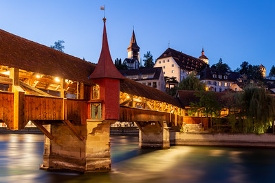 Night at Spreuerbrücke, Lucerne, Switzerland