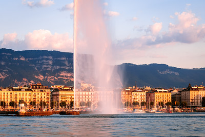 Jet d'Eau, The Geneva Water Fountain, Geneva, Switzerland