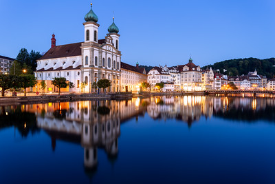 Reflection, Jesuitenkirche, Lucerne, Switzerland