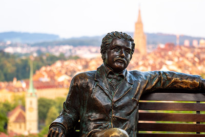 Albert Einstein Statue, Bern Rose, Bern, Switzerland