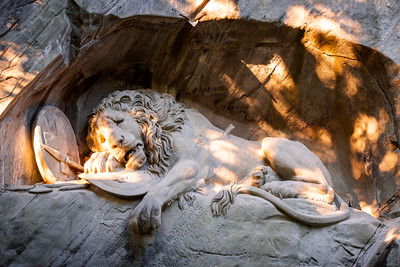 Löwendenkmal, Lion Monument, Lucerne, Switzerland