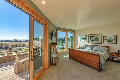 Master Bedroom with Entry to Back Deck