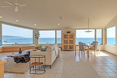 Bright Living Room with Great Ocean Views