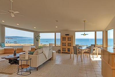 Living Room with South Coast Views
