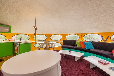 Living Room inside the Futuro