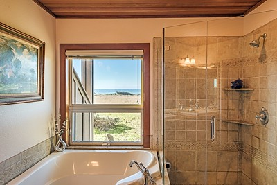 Master Bathroom with Ocean Views