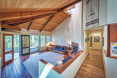 Living Room and Hall to Bedrooms & Loft