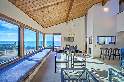 Living Room with big Ocean Views