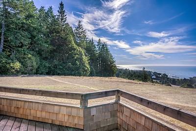 Back Deck View of Ocean & White Barn