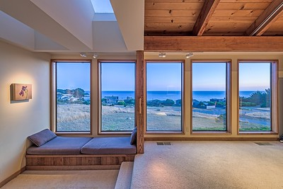 Living Room View at Twilight