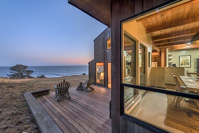 Dining Room & Back Deck at Twilight