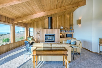 Living Room & Wood Burning Fireplace