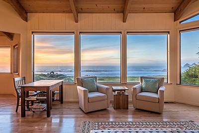 Living Room with Ocean Front Views