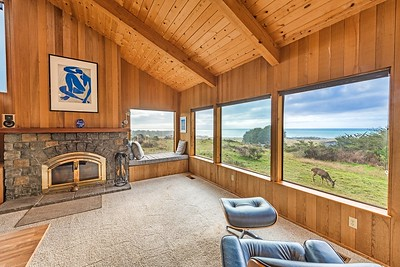 Living Room with Views of Ocean and Wildlife