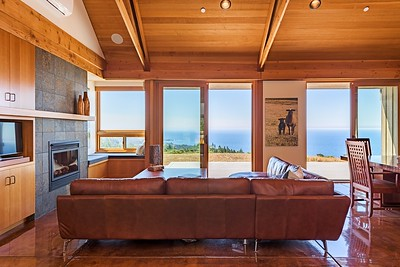 Living Room with Panoramic Ocean Views