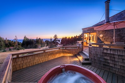 Hot Tub View at Sunset