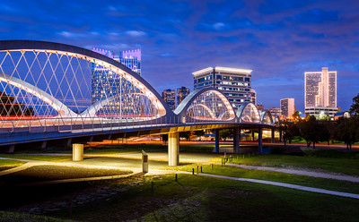 West 7th Street Bridge, Fort Worth, Texas, America