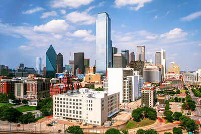 Daytime, Skyline, Dallas, Texas, America