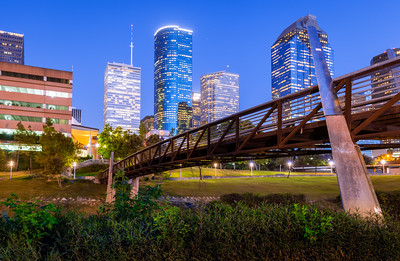 Footbridge, Buffulo Bayou, Houston, Texas, America