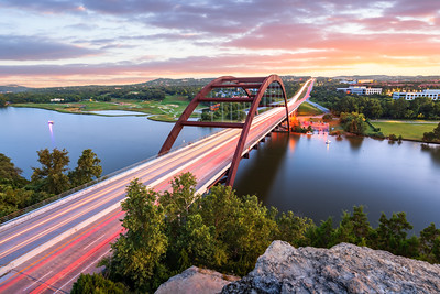 Pennybacker Bridge, Austin 360, Austin, Texas, America