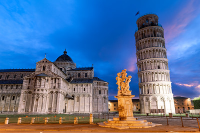 Pisa Cathedral, Fountain of Angels, Leaning Tower of Pisa, Pisa, Tuscany, Italy