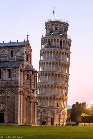 Sunrise, Leaning Tower of Pisa, Pisa, Tuscany, Italy