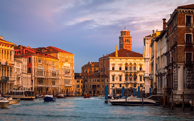Morning on the Grand Canal, Venice, Italy