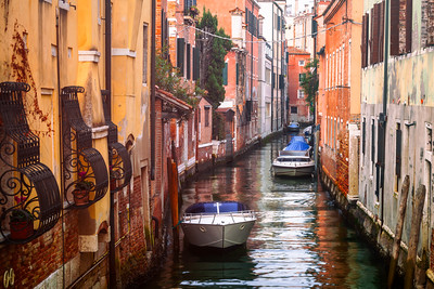 Colourful Houses in Venice, Italy