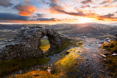 Epic Sunset at Crow Castle, Castle Dinas Bran, Llangollen, Wales