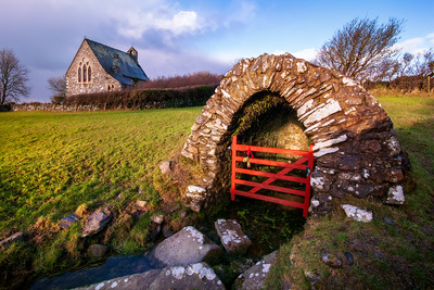 Church and Well of Llanllawer, Fishguard, Pembrokeshire, Wales