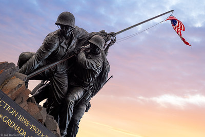 US Marine Corps War Memorial, Arlington, Mason, Virginia, America