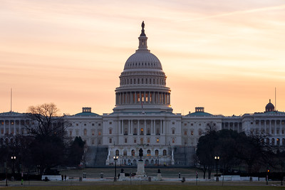 Sunrise, United States Capitol Building, Washington DC, America