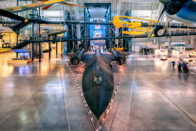 Lockheed SR-71 Blackbird, Space Shuttle Discovery, Steven F. Udvar-Hazy Center, National Air and Space Museum, Washington DC, America