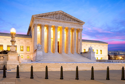 Sunset, United States Supreme Court Building, Washington DC, America