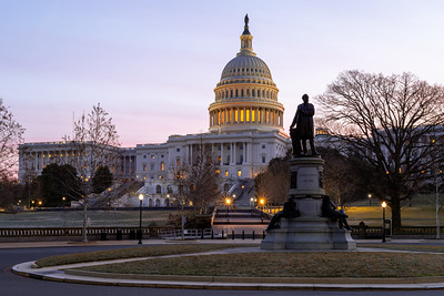Sunrise, United States Capitol, James Garfield, Washington DC, America
