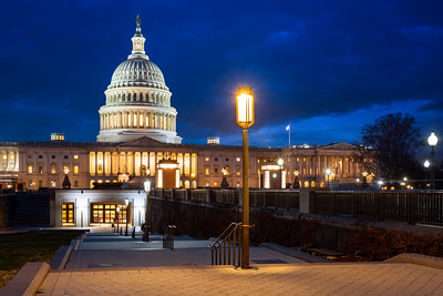 Blue Hour, United States Capitol Building, Washington DC, America