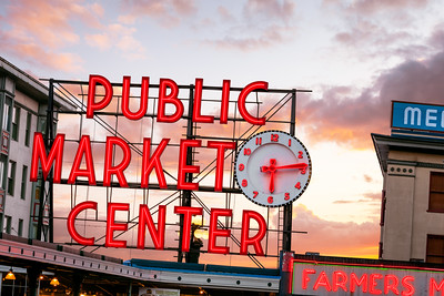 Public Market Center, Seattle, Washington, America