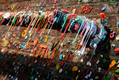 The Gum Wall, Seattle, Washington, America