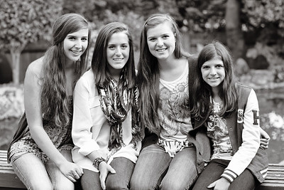 Chloe and her three God sisters.