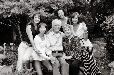 The sisters with Mom and Dad for their birthdays, September 2011.
