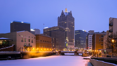 Skyline, Downtown, Milwaukee, America