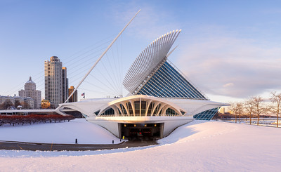 Sunset, Milwaukee Art Museum, Milwaukee, America
