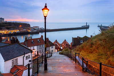 Whitby, 199 steps, Yorkshire, England