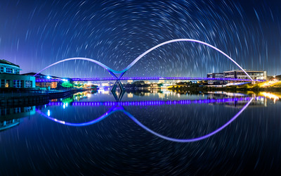 Infinity Bridge, Stockton on Tees, near Middlesbrough, England