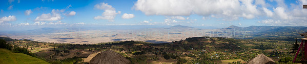 The great Rift Valley, from the lookout outside of Nairobi.